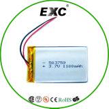 батарея батареи 503759 Lipo батареи 1100/1200mAh 3.7V