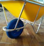 Wheelbarrow plástico forte da bandeja 60L para a venda por atacado