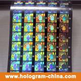 lámina para gofrar caliente olográfica del efecto del arco iris del laser 3D