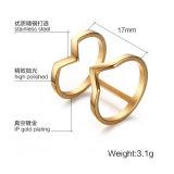 anillos de la joyería del color del oro de Rose del anillo del acero inoxidable 316L