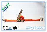 0.8тонн*25мм 5м с Двойным Крюком J Храповик Ремень с Двойной J Крюк SLN CE GS