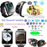 3G téléphone intelligent Q18 de montre de dual core du WiFi 1.2g plus