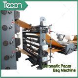 Bolso de papel automático lleno del embalaje que hace la máquina