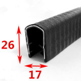 Joint de garniture de bord de porte en caoutchouc de silicones d'U-Forme pour l'automobile, Module