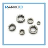 Les dents externes d'acier inoxydable DIN 6797 ont crénelé la rondelle de freinage