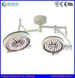 Het Plafond van de Apparatuur van het ziekenhuis zette Dubbele Hoofd LEIDENE Shadowless Werkende Lamp op