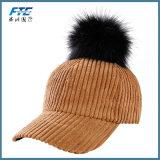 Protezione casuale di svago di autunno delle donne del berretto da baseball del Pompom di inverno di Simplee