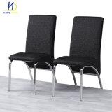 Factory Direct Restaurant PU souple en cuir confortable avec des chaises en métal chromé jambes
