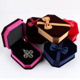 Кольцо коробки ювелирных изделий ткани/шкентели/коробка подарка упаковки ожерелья/браслета