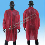 Manteau de laboratoire étanche non tissé, revêtement de laboratoire résistant aux acides jetables