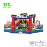 De kleurrijke Opblaasbare Speelplaats van het Doel van de Voetbal van het Stadion van het Voetbal
