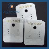 Ohrring-Bildschirmanzeige-Karte mit rückseitiger Schlaufe