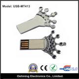 Azionamento dell'istantaneo del USB del metallo di figura 2.0 della palma della mano della novità (USB-MT413)