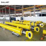6 8 cilindro idraulico saldato 10 pollici fase resistente industriale della flangia della multi