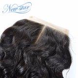 Chiusura profonda brasiliana del merletto dei capelli umani dell'onda 100% della nuova stella
