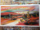 Pittura a olio europea dell'estratto di stile per la decorazione della parete