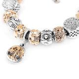Charme van de Parel van het Glas van de manier parelde de In het groot de Zilveren Geplateerde Armband van het Metaal