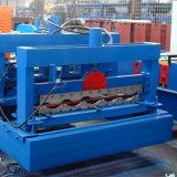 A boa qualidade vitrificou o rolo de aço da telha de telhado da cor que dá forma à máquina