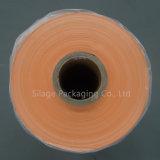 オレンジカラーの500mm*1800m*25umによって吹かれるサイレージの覆いのフィルム