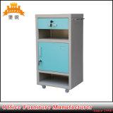 Jas-109 em aço inoxidável armário de leito hospitalar com rodízios opcionais