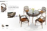 安い屋外のテラスの家具の総合的な藤のレストラン表および椅子(YT658-1)