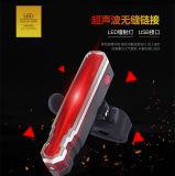 Accesorios de bicicletas ciclismo recargables USB resistente al agua luz láser