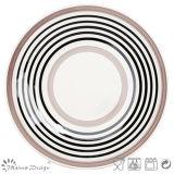 Insieme di pranzo di ceramica del cerchio semplice di tolleranza