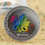 Les militaires en alliage de zinc de la coutume 3D de vente chaude contestent la pièce de monnaie avec l'émail mol (JIABO-1023)