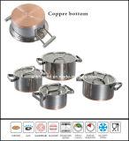 銅の最下のステンレス鋼のカセロールSaucepot一定Sc594