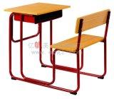 Mobiliario Escolar fijado solo escritorio y silla para el estudiante de secundaria