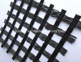 Poliestere di lavoro a maglia Geogrid di concentrazione del filo di ordito basso ad alta resistenza di allungamento
