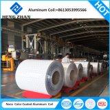 Bobine d'aluminium à revêtement de couleur pour perforer les dalles de plafond tuile de couleur blanche