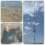 Kommunikation galvanisierter StahlGuyed Antennenmast