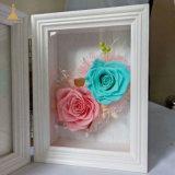 크리스마스를 위한 보존한 로즈 꽃 사진 프레임 선물