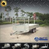 De hete Ondergedompelde Gegalvaniseerde Gelaste Vlakke Aanhangwagen van de Vrachtwagen voor Industrieel