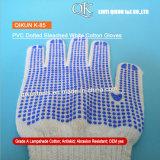 K-85 Un deux côtés en pointillés de la sécurité de travail des gants de coton tricotés