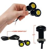 10X 18mm Eagle Eye Motor do carro LED luz diurna DRL nevoeiro