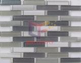 Mosaico grigio della spruzzata del marmo e di vetro della striscia (CFS704)