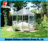 Vidrio de cristal/reflexivo del vidrio de flotador ultra claro/teñido/vidrio ácido para el edificio