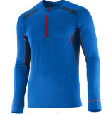 Half Zip Homme Dri Fit Compression Sportswear Running Shirt with Custom Logo