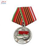 Personalizar la alta calidad chapado en oro Santa Claus la medalla de metal