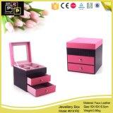 Rosa und Purple Square Shape PU Jewelry Box