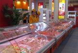 Feinkostgeschäft-Fleisch gebogene Glasbildschirmanzeige-Metzger-Bildschirmanzeigen