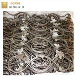 Aste della ringhiera e rosette del corrimano del ferro saldato