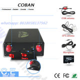 Perseguidor Tk105b del vehículo del GPS con el sensor de temperatura del programa de lectura de la cámara RFID del limitador de la velocidad