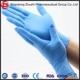 Examen médicale et chirurgicale des gants jetables en nitrile