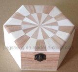 Contenitore creativo di legno su ordinazione di legno del contenitore di casella di immagazzinamento in il contenitore di monili