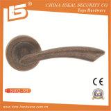 Verrouiller la porte de rosettes en laiton antique Handle-Ba0293