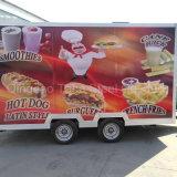 طعام عربة مع مكعّب [مك مشن] لأنّ عمليّة بيع [فست فوود] مقطورة [إيس مشن]