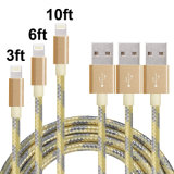 cables trenzados de nylon del relámpago 8pin al cable del USB para el iPhone
